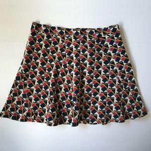 Zara Woman Short Circle Skirt Geometric Print SZ M